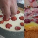 Лесна, желирана ягодова торта