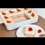 Най-бързата лятна торта с ягоди и кисело мляко - хапчица свежест в жегите:
