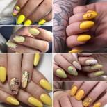 24 жълти и стилни маникюри за къси и средни нокти за лятно настроение