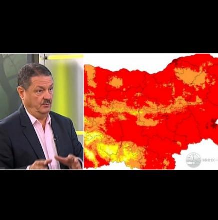 Цяла България свети в червено! Проф.Рачев с изпепеляваща прогноза за август: