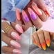 Маникюр с цветовете на залеза (Снимки):