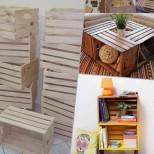 Дизайнерски мебели от стари щайги (Снимки):