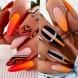 20 изкусителни септемврийски маникюра в оранжево - ярък старт на есента (Снимки):