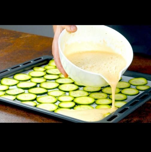 Вече няма да пържите тиквички: САМО нарязвате на филийки, заливате и печете - отдавна не сте яли по-голям деликатес!
