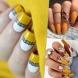 Горчичен-маникюр - последният писък на есенната мода! 21 дизайнерски идеи (Снимки):