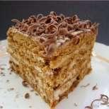 Медена торта с шоколад
