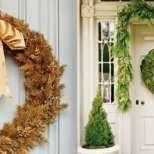 Коледни венци за украса на входната врата