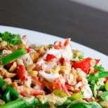 Зеленчукова салата с фъстъци
