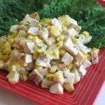 Пилешка салата с ананас и сметана