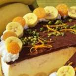 Бананова крем-торта с шоколад
