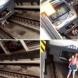 Бременна жена падна на релсите под влак и оцеля по чудо-Видео