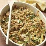 Запеканка с пиле, тиквички и ориз