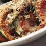 Мозайка с тиквички, домати и моцарела