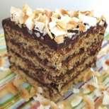 Кокосова торта с тиквички и глазура