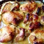 Пилешки бутчета с кашкавал