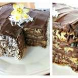 Кокосова торта с шоколад