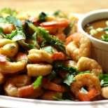 Запечени скариди по тайландски с азиатски рибен сос