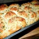 Чесново хлебче със сирене Чедър