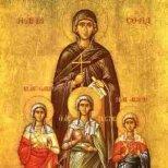 Днес е Св. мъченици Вяра Надежда , Любов и майка им София