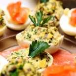 Пълнени яйца с картофена салата