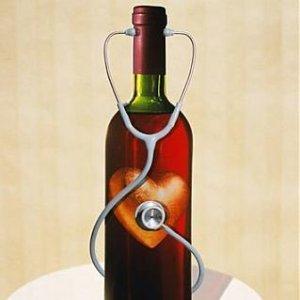Чаша червено вино на ден за здраве