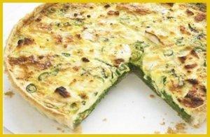 Омлет на фурна с пресен лук и сирене