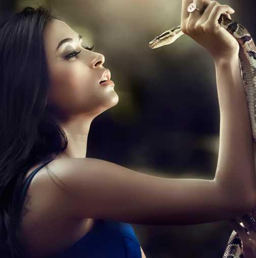 Каква змия сте - Жената Дева е Гърмяща змия, Жената Везни  Анаконда, Жената Стрелец ...