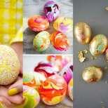 Боядисване на яйца - 13 нови интересни начина, които няма да ви бъдат скучни-Частично боядисване за мързеливи, къпани яйца, с цветни...