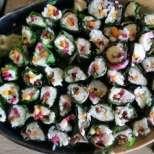 Фалшиво суши с листно цвекло (манголд)