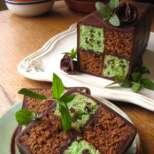 Торта Батенберг с мента и шоколад
