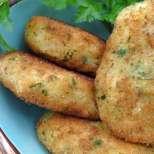 Картофени крокети с риба и праз