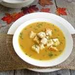 Крем супа с тиква и праз