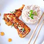 Мариновани рибни филенца с мак и сусам