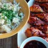 Пилешка салата с картофи