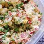 Картофена салата с микс от зеленчуци