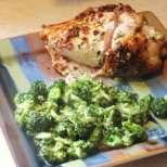 Пълнено пилешко с гъби и синьо сирене