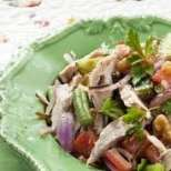 Рибна салата със зелен боб