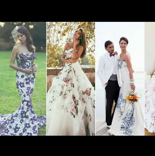 Новият булчински хит: Романтични сватбени рокли на цветя, идеални за пролетна и лятна сватба