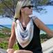 Идеи как да се носи шал в топлите дни на лято 2015