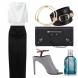 Какво да облечете утре? Минималистична черно-бяла комбинация, която включва топ без ръкави и ...