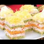 Вкусна шарена торта със спанак