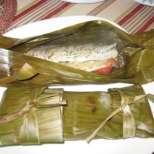 Печена риба в царевични листа