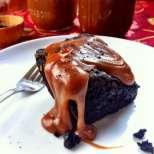 Тъмно шоколадово Брауни с карамел