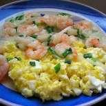 Китайски скариди с бъркани яйца