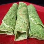 Зелени палачинки с бял пълнеж