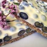 Боровинкови резенки с бял шоколад