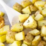 Пресни картофки с копър и чесън