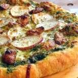 Пица с песто и картофи