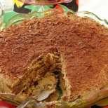 Постна бисквитена торта