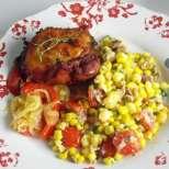Пържени пилешки бутчета с царевица